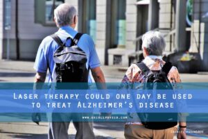 Laser therapy could one day be used to treat Alzheimers disease