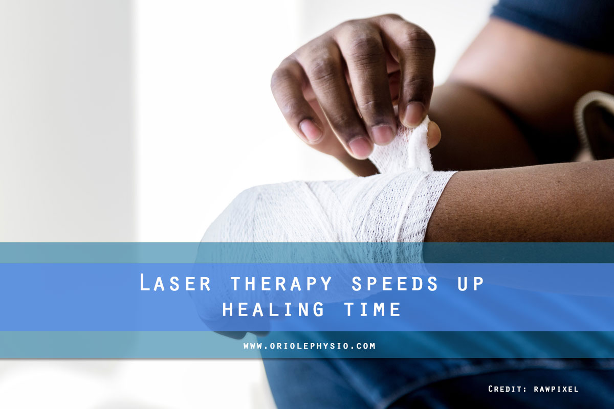 Laser therapy speeds up healing time