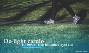 Do light cardio to boost the immune system