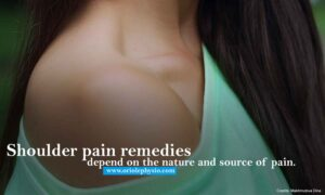 Shoulder pain remedies depend on the nature and source of pain.