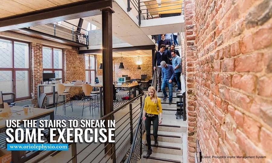 Use the stairs to sneak in some exercise
