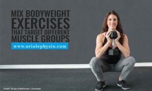 Mix bodyweight exercises that target different muscle groups