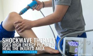 Shockwave therapy uses high energy pulses to heal the injured area