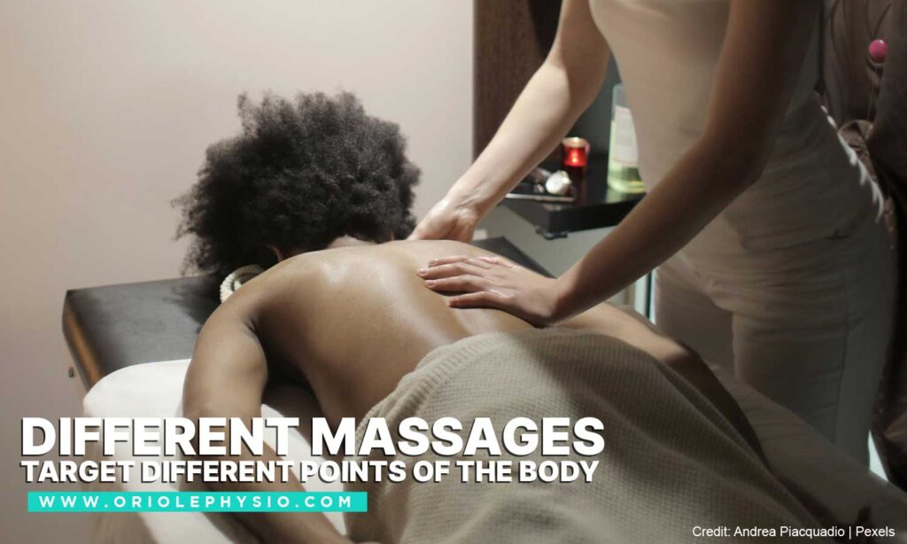 Different massages target different points of the body