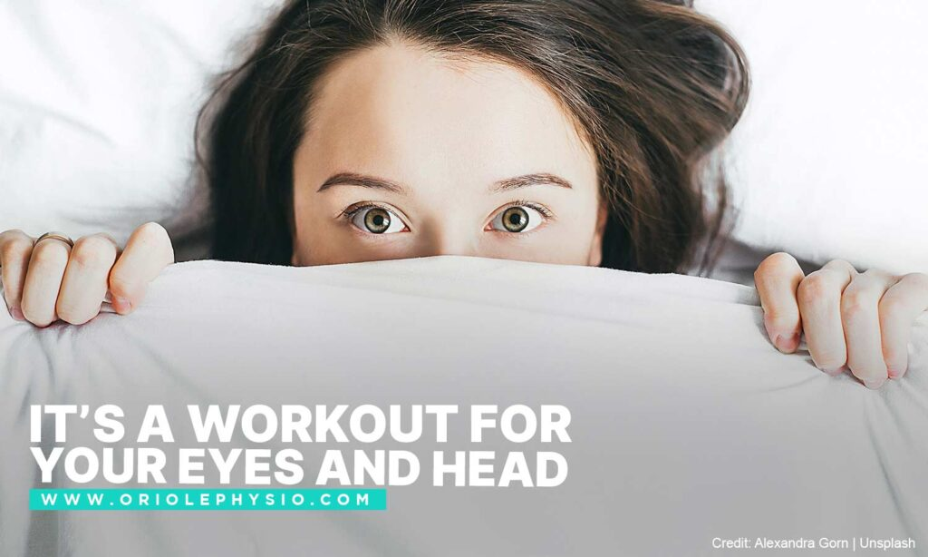 It's a workout for your eyes and head