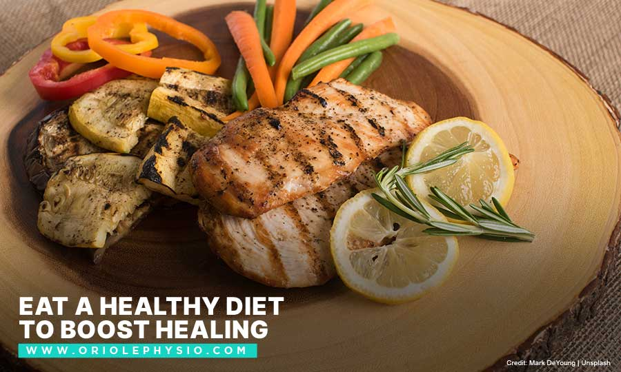 Eat a healthy diet to boost healing
