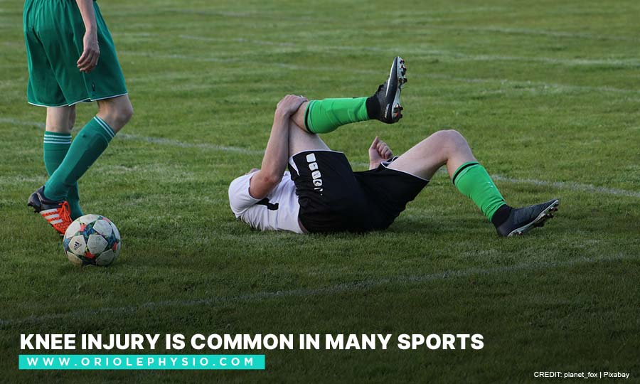 Knee injury is common in many sports