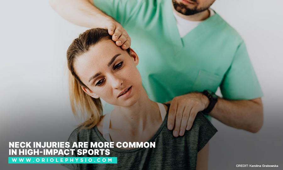 Neck injuries are more common in high-impact sports
