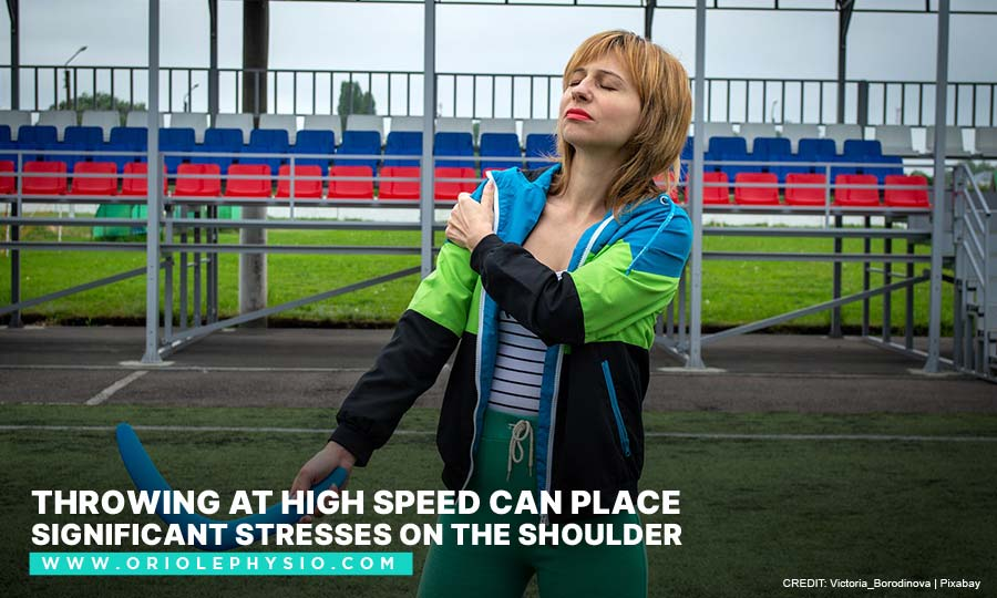 Throwing at high speed can place significant stresses on the shoulder